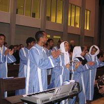 Eritreische und deutsche Musik gaben dem Gottesdienst einen internationalen Charakter