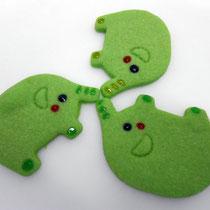 緑の動物クッキー(ぶたさん)