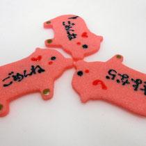 ピンクの動物クッキー(ぶたさん)