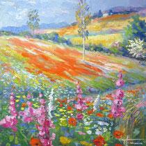 Primavera in fiore - Olio su tela 50x40 Codice F235