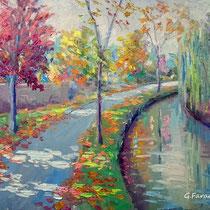 """Impressioni d'autunno"" olio su tavola cm 50x40 (Codice 275)"