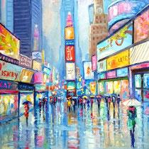 Times Square NY olio su tela cm 50x40 (Codice NY20)