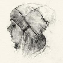 Tatjana, Graphit auf Papier, 2016