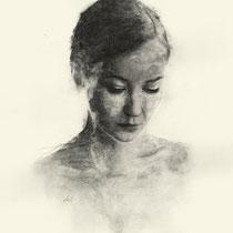 Lena, Graphit auf Papier, 2016