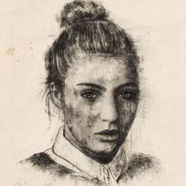 Julia, Graphit auf Papier, 2015