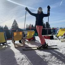 Renske on skis