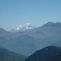 Col du Glandon- vue sur le Mont Blanc