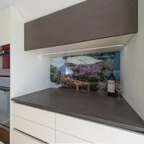 Küchenabdeckung in Betonoptik
