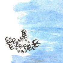 Illustration/Scherenschnittcollage zu >John Maynard<, Vorsatzpapier