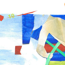 Illustration/Scherenschnittcollagezu >John Maynard<