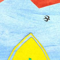Illustration/Scherenschnittcollage zu >John Maynard<, Cover