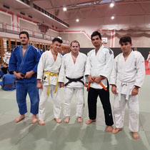 Judo Club Stockerau Neujahrslehrgang an der Gugl Linz: Christian Anzböck, Mohammad Amiry, Markus Betz, Javad Husseini und Yousuf Ziaie