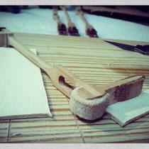 Remplacement feutre usé par du cuir