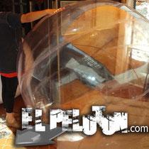 pelota transparente gigante