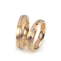 """Ringe in Roségold 750/000, Damenring mit weißen und farbigen Brillanten als """"Sonnensystem"""""""