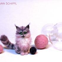 PINK & LILAC FANTASY KITTY