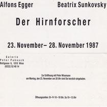 Alfons Egger Beatrix Sunkovsky 1987 Der Hirnforscher