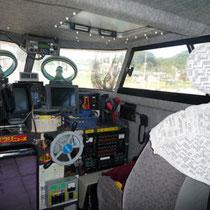 船内ブリッジ(操舵室)