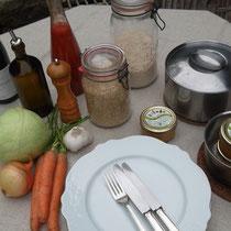 Aux fourneaux pour un riz sauté aux petits légumes et tartinade Thaï !
