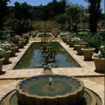 289.15 Le piscine e le fontane del giardino all'interno dell'Alcazar. © 1999 Alessandro Tintori
