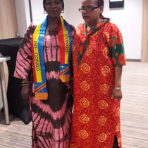 Both in traditional African dresses