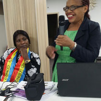 Anuarite  Siirewabo (left) and Rita Marque during the meeting