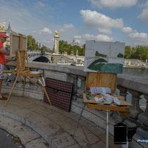 Zu Besuch in Paris - Maler © Holger Hütte 2014