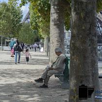 Paris - 2 Tage - Leser auf einer Bank © Holger Hütte 2014