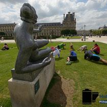 Zu Besuch in Paris - 2 Tage - Sport in den Tuilerien © Holger Hütte 2014