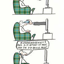 """""""3-D-Fernsehen"""" - © Arnulf Kossak"""