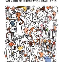 """Plakat Integrationsball 2013"", Volkshilfe - © Arnulf Kossak"
