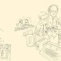 """Illustration zur Rubrik """"Lebensarten"""" im Magazin """"datum"""" - © Wolfgang Hauer"""