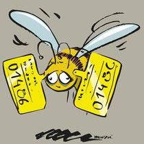 Kennzeichnungspflicht für Bienen, Imker Bad Goisern, 2016 - © Wolfgang Menschhorn