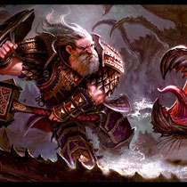"""Dwarf vs Hook"" - © Mathias Kollros"