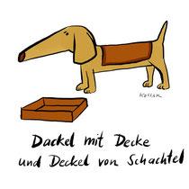 """Dackel"" - © Arnulf Kossak"