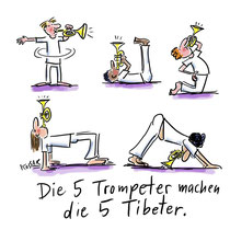 """5 Tibeter"" - © Arnulf Kossak"