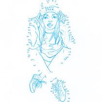 """""""Mural Habour 2: Zahlenbild-Girl"""" - © Lisa »Miss Felidae« Arnberger"""