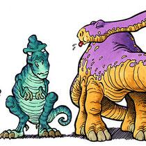 """Dinos"" - Durchstarten: Italienisch 1, Veritas-Verlag - © Helmut »Dino« Breneis"