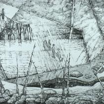 Jurney #2, 53cm x 74cm, Graphite auf Papier, verkauft