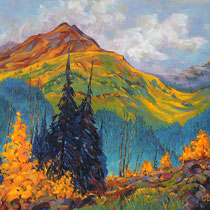 Autumn Morning, 61cm x 71cm, Acryl auf Holzplatte, verkauft