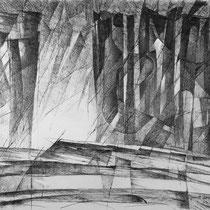 Sentinel, 53cm x 74.5cm, Graphite auf Papier, € 1500
