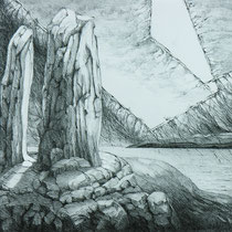 Spirit Rock, 69cm x 86cm, Graphite auf Papier, € 1300