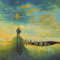 The fals Prophet, 69cm x 86cm, Acryl auf Leinen