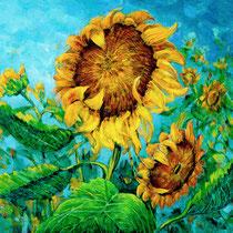 Summer Wind in the Field, 53cm x 61cm, Acryl, verkauft