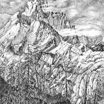 Devastater Peak, 77cm x 58cm, Graphite auf Papier € 1300