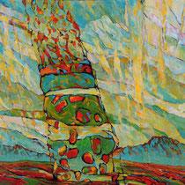 Die Frucht der Felder, 85 x 112cm, Acryl auf Holzplatte, verkauft