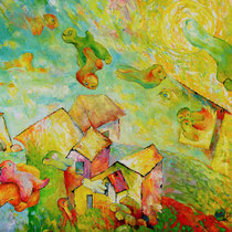 Childhood Dream, 60cm x 70cm, Öl auf Holzplatte, verkauft