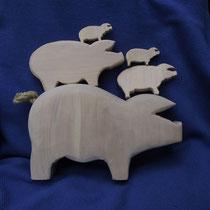 Schweinefamilie, Schwarzpappel