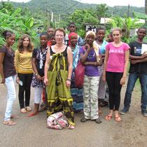 Avec les collégiens de Mayotte en 2012