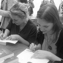 En dédicace avec ma fille Coline, au Printemps du livre de Grenoble 2018